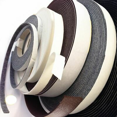 10m Self-Adhesive Felt Furniture Pad Roll Strip Rolls Black Grey White