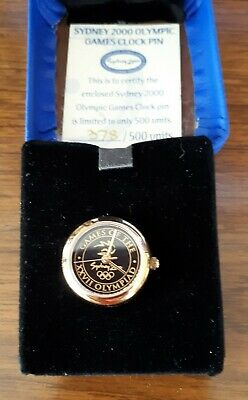 Sydney 2000 olympic watch lapel clock collectable rare