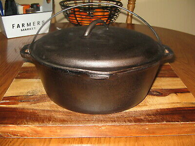 Vintage Unmarked Wagner Cast Iron Dutch Oven