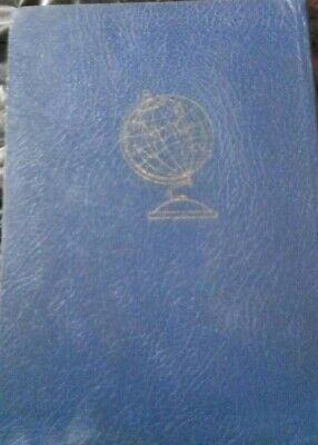 Post Stamp Old Vintage Collection Large Blue Album Worldwide More than 1000