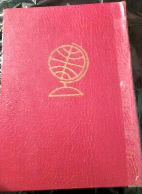 Post Stamp Old Vintage Collection Large Red Album Worldwide More than 1000