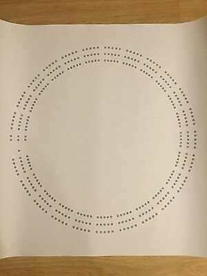 Large Round Cribbage Board Hole Pattern Paper Template