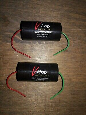 Matched Pair V-Cap .22uF 600 VDC TFTF Teflon Film and Tin Foil Capacitors.