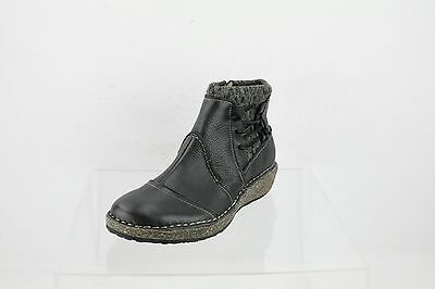 fe8bad00df7a Aetrex Tessa Black Leather Sweater Ankle Boots Women s Shoes Size 7 M NEW