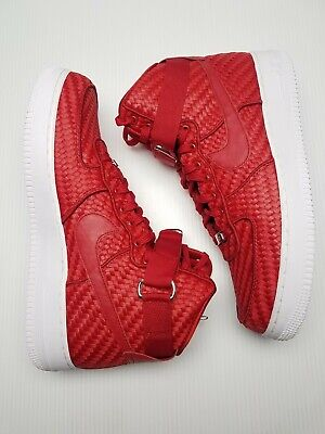 cheap for discount cf0f9 48b8c Nike Air Force 1 High LV8 Woven Red  White Men Sz 11 New 843870 600