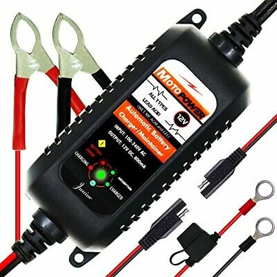 12V Fully Automatic Battery Charger Motorcycle Float Trickle Maintainer 800mA