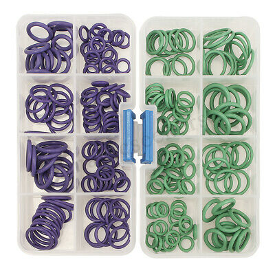 145Pcs Car A/C R134a R22 Air Conditioning O Ring Seals Washer Assorted 8