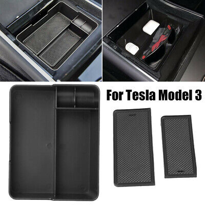 Center Console Tray Organizer Coin Sunglass Holder For Tesla Model 3 Left
