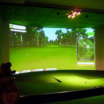 "118""X79"" Golf Ball Training Simulator Impact Display Projection Screen Indoor"