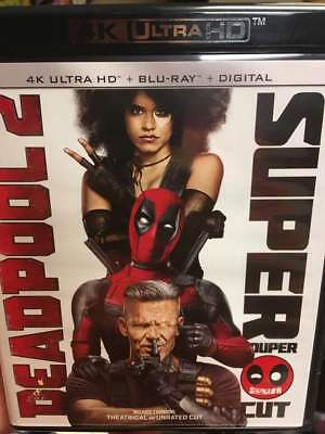Deadpool 2 Super Duper Cut 4K Blu Ray ONLY with Case/Artwork No Slip/DigitalCopy