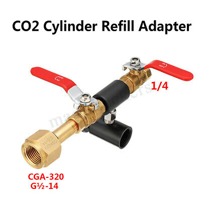 CGA-320 CO2 Cylinder Refill Adapter for SodaStream Bottle Connector Homebrew