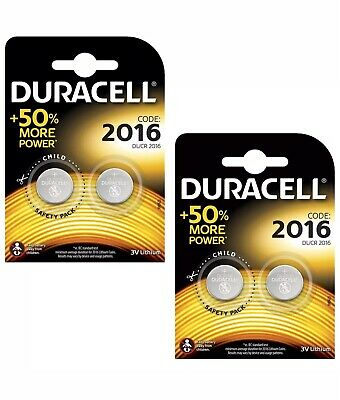 Genuine 4X Duracell Cr2016 3V Lithium Coin Cell Battery 2016 Dl2016 Br2016