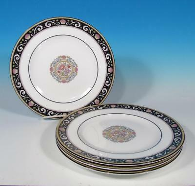 Wedgwood Bone China SET (4) Runnymede Blue W4472 Retired Salad Plates MINTY!
