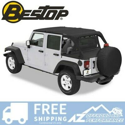 Bestop Duster Deck Cover - Nero Diamante 07-18 Jeep Wrangler JK Unlimited 4 Door
