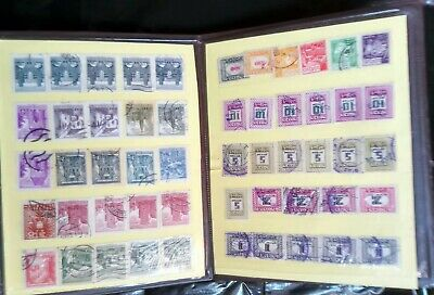 Post Stamp Old Vintage Collection Small Album Worldwide  Four Pages lot of 105