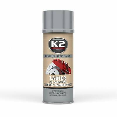 K2 Brake Caliper Paint 400 Ml Silver - Bremssattellack Spray Silber (12,88 €/1L)
