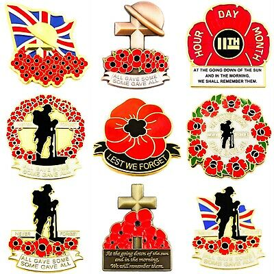 New Military WW1 Lapel Pin Badge British Army 2019 Enamel Poppy Metal Collection