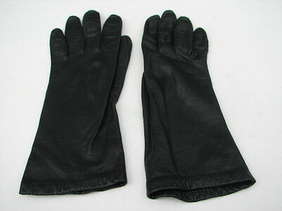 **Aris Ladies Black  Leather Fully Lined Driving Gloves ~~Size 6.5~~