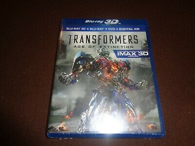 Transformers Age Of Extinction * Brand New Sealed * Blu-Ray 3D, BR, DVD, Digital