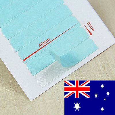 AU STOCK Pre Cut Extra Strong Adhesive Blue Tape Skin Weft Hair Extensions AU712