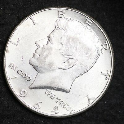 1964-D DOUBLE DIE OBV Kennedy Half Dollar CHOICE UNC FREE SHIPPING E419 T