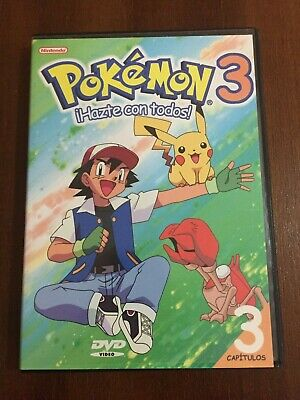 Pokemon Volumen 3 - 1 Dvd Pal 2 - 78 Min - Capitulos 7 8 Y 9 - En Buen Estado