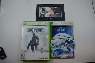 Lost Planet Extreme Condition Microsoft Xbox 360 COMPLETE with BONUS LASER CELL