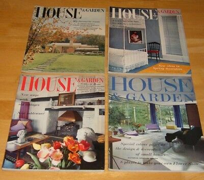 House and Garden Magazine - Vintage - 4 Issues - January, April, May, June 1961