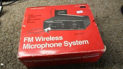Realistic FM Wireless Lapel Microphone System -  Model 32-1221A - Vintage