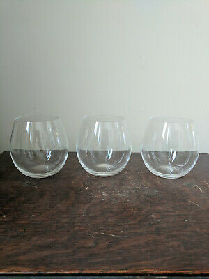Marquis by Waterford Crystal Thin Tumblers Wine Glasses Set of 3 Bar Ware