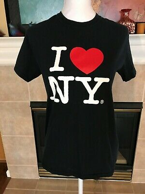 I Love NY Heart T-Shirt Black Officially Licensed New York City Women s S   a02c564b798