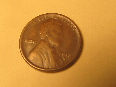 1913 S Lincoln Wheat Cent Penny in VF+ Very Fine+ Condition