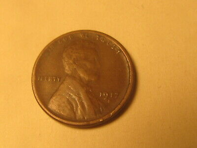 1917 S Lincoln Wheat Cent Penny in VF Very Fine Condition