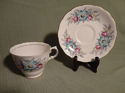 Vintage Tea Cup and Saucer - Fine Bone China Made in England - Colclough