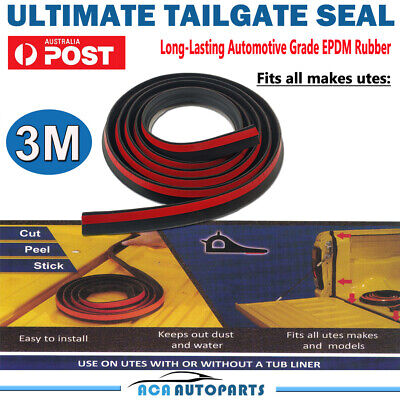 Tailgate Seal Kit for Isuzu DMAX D-MAX UTE Rubber Dust Tail Gate Seal AUSSIE!