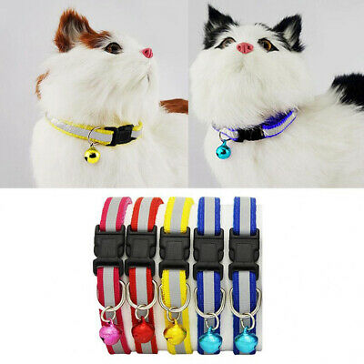 Pet Puppy/Dog Kitten Cat Break Away Collar & Tag Reflective Safety Quick Release