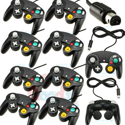 8X For GameCube NGC GC Wii Controller Dual analog Wired Shock Game Pad Nintendo