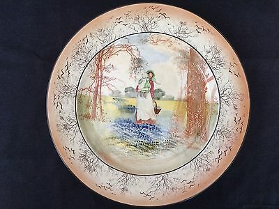 c.1915 ROYAL DOULTON MOTHER & CHILD  BLUEBELLS STAMPED 12*20 MARKED D.3812 PLATE