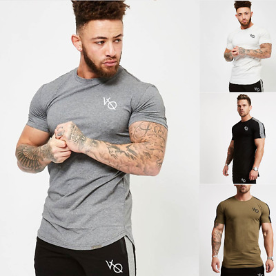 Vanquish VQ Fitness Men's T-Shirt Gym Bodybuilding Top Workout Muscle Sergi Tee