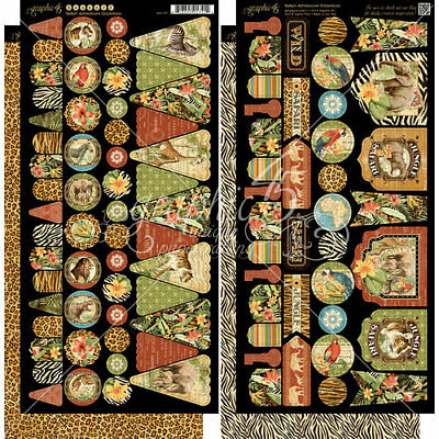"G45 - Safari Adventure Cardstock Die-Cuts - Banners - 6""X12"" Sheets 2/Pkg"