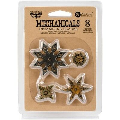 PM - Finnabair Mechanicals Metal Embellishments - Steampunk Blades - 8/Pkg