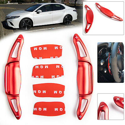 Pair Steering Wheel Extension Shift Paddle Shifter For Toyota Camry 2019 Red /A5