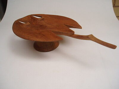 WOODEN CARVED STINGRAY BOWL - Pacific Art Craft