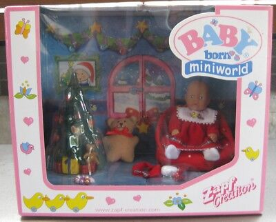 Zapf Baby Born Miniworld -  Christmas Set **Mib**