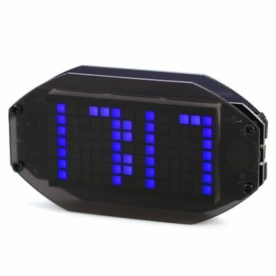 DIY Black Mirror LED Matrix Desktop Alarm Clock Kit with Temperature Displa E5B3