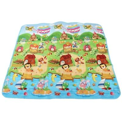 Baby Crawl Mat Kids Play mat Toddler Playing Carpet Picnic Blanket F2F9