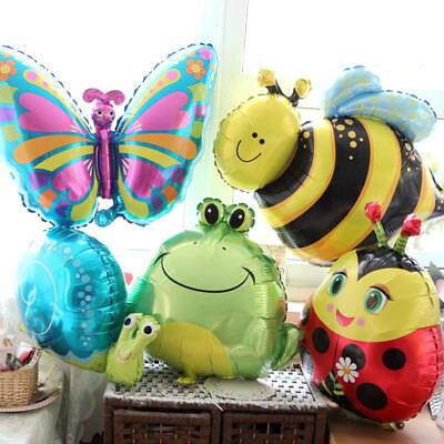 5Pcs Animal Foil Balloons Kids Decor Safari Jungle Birthday Party Baby Shower