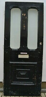 English (Victorian/Edwardian?) front door (leaded light stained glass). R992
