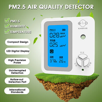 PM2.5 Detector Air Quality Dust Sensor Home LCD Display Monitor Analyzer Meter