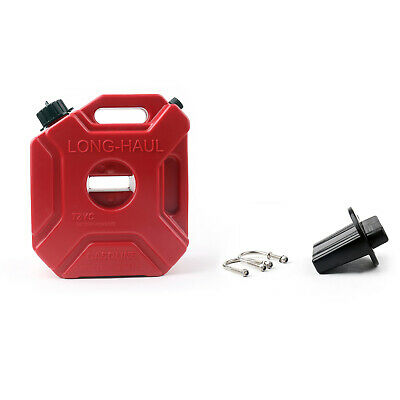 5L SUV ATV Plastic Jerry Cans Gas Diesel Fuel Tank w/Lock For Motorcycle